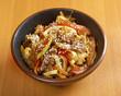 Cooking udon teppanyaki with pork - 65666919