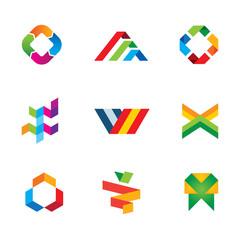 Extreme innovation and creativity human tape logo symbol icon