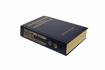 The Oxford illustrated dictionary isolated