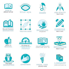 conjunto de iconos de la organización en el trabajo