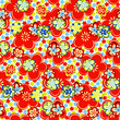 Flowers seamless summer pattern