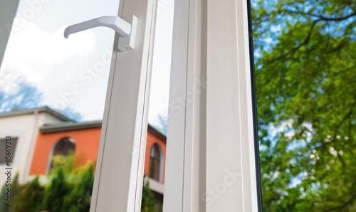 Leinwandbild Motiv plastic vinyl window