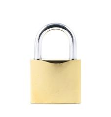 close up yellow lock