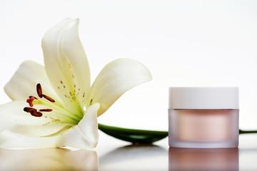 Skincare cream isolated on white background.