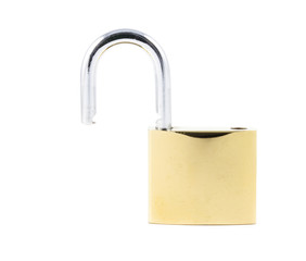 close up yellow lock
