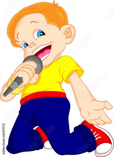 young boy singing - 65671772