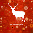 Christmas deer cintage card. EPS 8