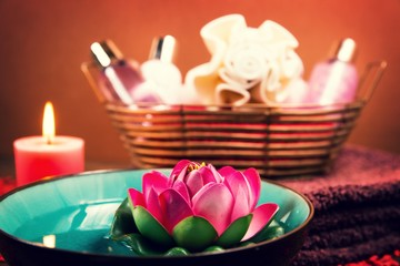 Beautifully arranged spa elements.