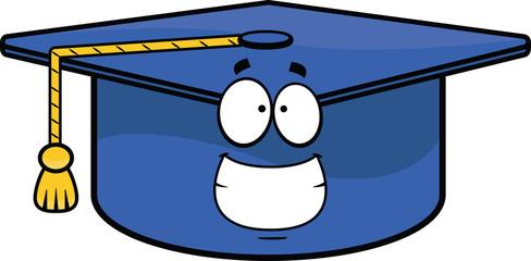Grinning Cartoon Graduation Cap