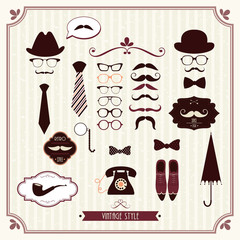 Vintage style elements set