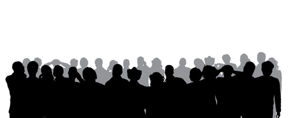 Vector silhouette of anonymous people.