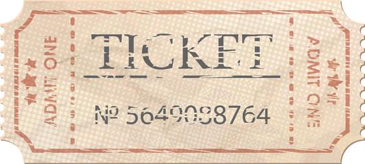 Ticket admit one vintage one. EPS 8