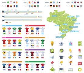 Soccer championship infographic elements