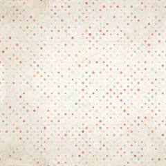 Aged and worn paper with polka dots. EPS 10