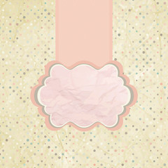 Polka dot design pink. EPS 8