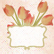 Vintage paper flowers template. EPS 10