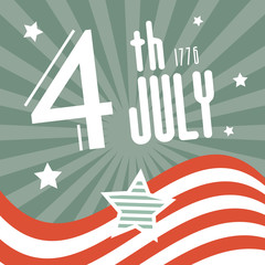 Fourth July 1776 Independence Day Retro Background