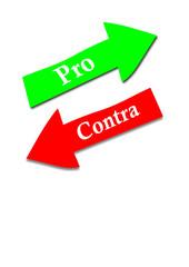 Pfeile Pro und Contra