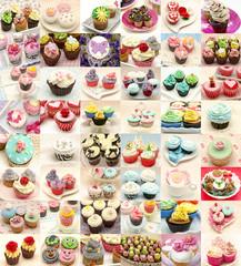 Collage de cupcakes