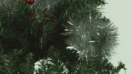 christmas tree isolated on white background cut out close-up