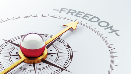Poland Freedom Concept