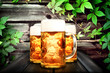 canvas print picture - Bier krug auf dem Tisch