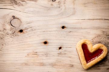 Heart cookies.