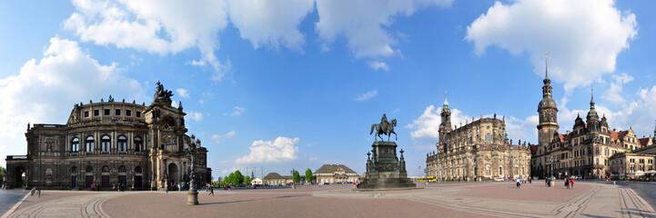 Panoramafoto Theaterplatz, Dresden / Sachsen