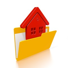 file folder with house symbol