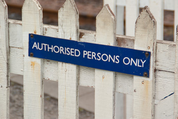authorised persons sign
