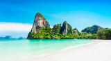 Fototapety Beauty beach and limestone rocks