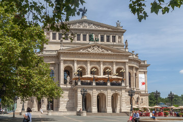 Alte Oper Frankfurt on a summer day.