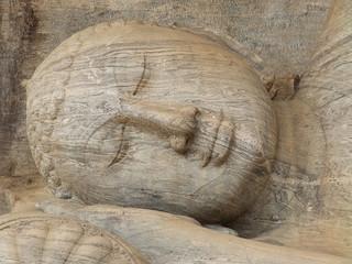 Giant statue of sleeping Buddha