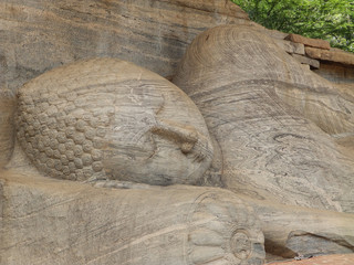 Giant statue of sleeping Buddha