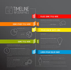Infographic dark timeline report template