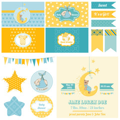 Baby Shower Sleeping Bear Theme  - for Party, Scrapbook