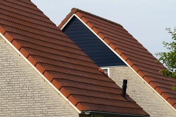 Dächer in Reihenhaussiedlung