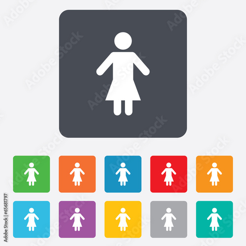 Female sign icon. Woman human symbol.