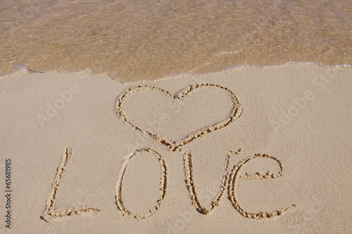 Heart on the sand.