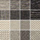 Fototapety Basic Doodle Seamless Pattern Set No.2 in black and white