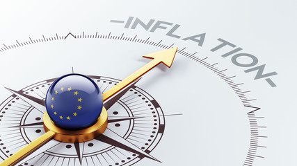 European Union Inflation Concept.