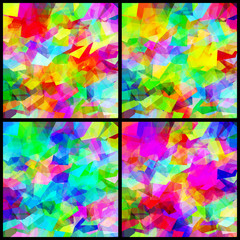 Set Background Multicolor Polygon Abstract