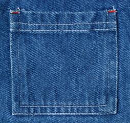 blue denim textile pocket