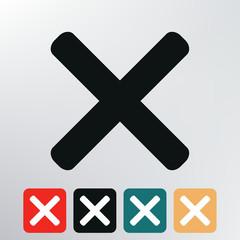 X icon.