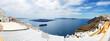 Panorama of the Fira town with view on Aegean sea, Santorini isl