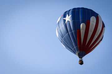 Patriotic Hot Air Balloon Above