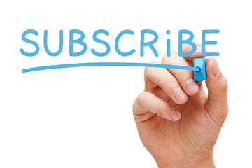 Subscribe Blue Marker