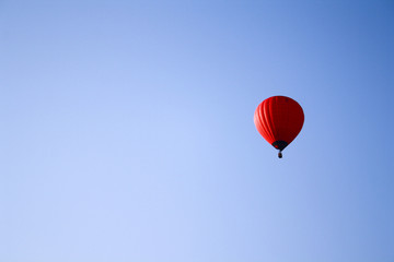 Red Hot Air Balloon Sky