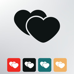 two hearts icon.