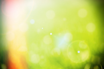Abstract circular green bokeh background